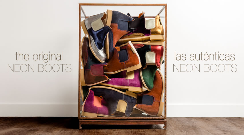Neon boots®, a reinvention of the chelsea boot combining tradition and trends