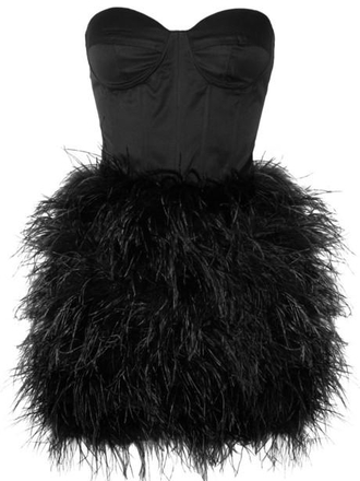 dress little black dress prom dress feathers short dress