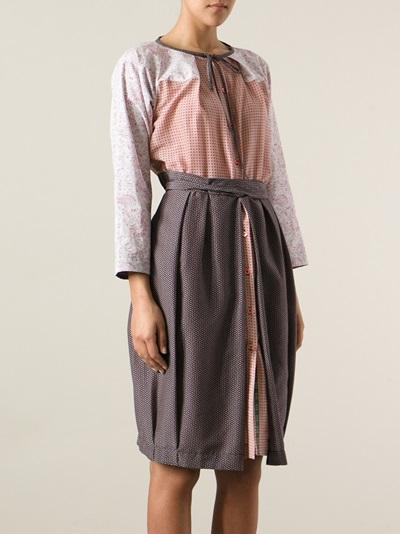 Wunderkind Print Mix Casual Dress - Jean Pierre Bua - Farfetch.com