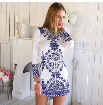 dress white dress blue dress long sleeves long sleeve dress outfit cute dress accessories short dress sexy dress