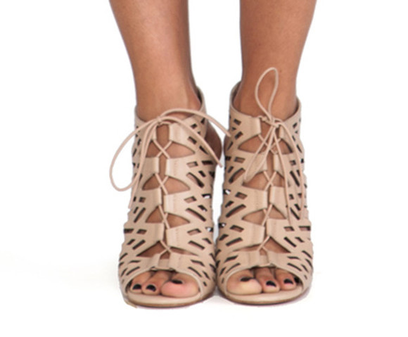shoes high heels lace up beige revolve revolve clothing