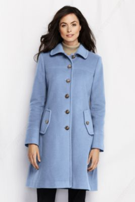 Women's Luxe Wool Swing Car Coat from Lands' End