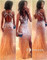 Charming sweetheart backless tulle long prom dresses, evening dresses