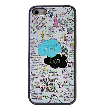 Cartoon Style Interessante dingen en Zinnen Patronen Hard Case met matte Back Cover voor iPhone 5C - USD $ 3.99
