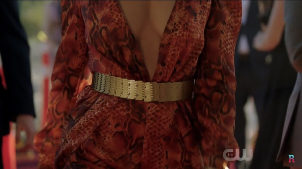 dress riverdale mädchen amick red serpent gold