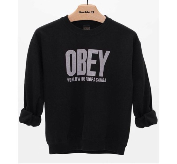 jacket black obey jacket