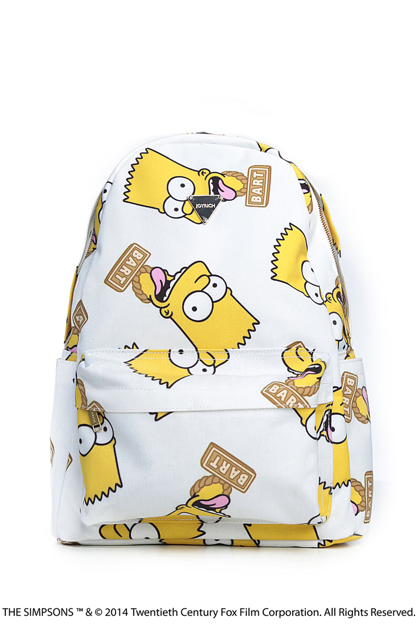 BART FACE BACKPACK / WHITE - JOYRICH Store