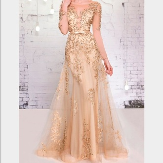 dress clothes gold sequins gown gold dress prom dress