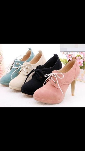 shorts black heels laces small heel