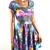 UV Glow Galaxy Print Skater Dress