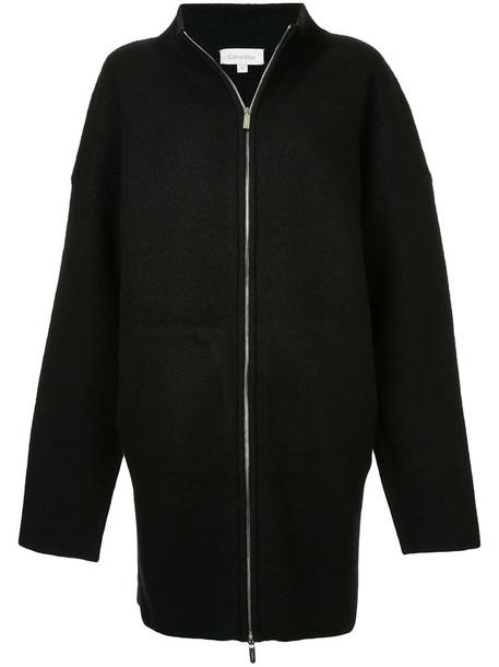 Ck Calvin Klein hoodie women black wool sweater