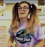 t-shirt,top,tie dye,tie dye top,jurassic park,brand t-shirt,sunglasses,shirt,cutiepiemarzia,purple,jurrasic world