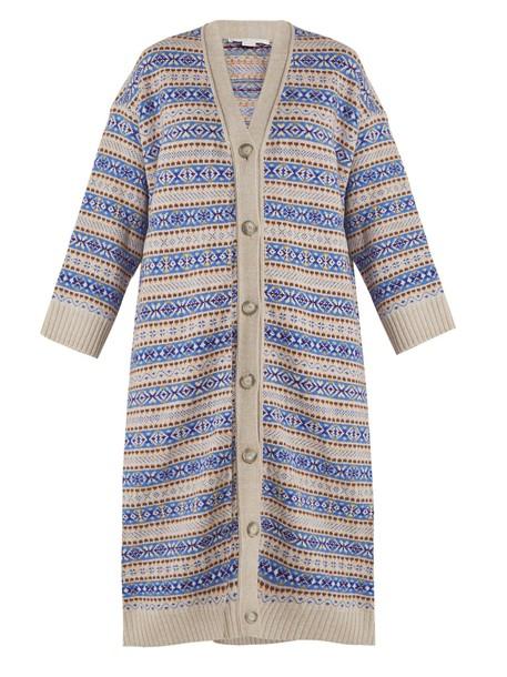 Stella McCartney cardigan cardigan oversized wool blue sweater