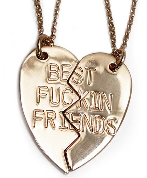 jewels bff necklace half twopiece bff best fuckin