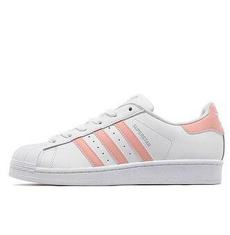 shoes adidas pink white sneakers black adidas shoes peach colour superstar peach stripe peach superstars addidas superstars new