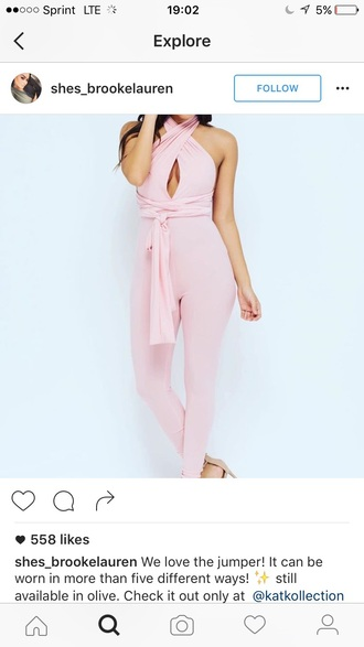 jumpsuit jumper summer outfits outfit idea outfit cute outfits spring outfits date outfit party outfits one piece pink