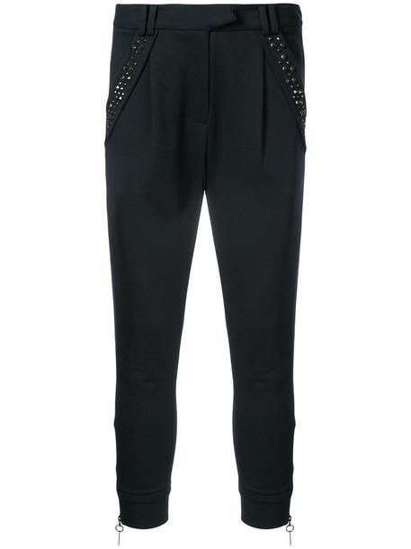 women spandex cotton black silk pants