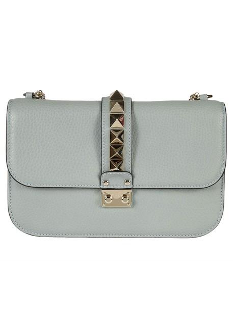 Valentino Garavani studded bag shoulder bag leather grey