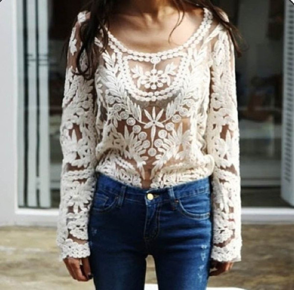 Roza lace blouse
