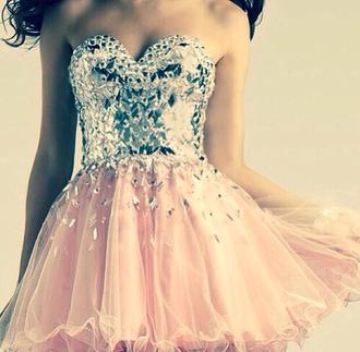 dress prom dress prom gown pink pink dress party dress crystal crystal dress ball gown dress short dress short ball gowns ball gown
