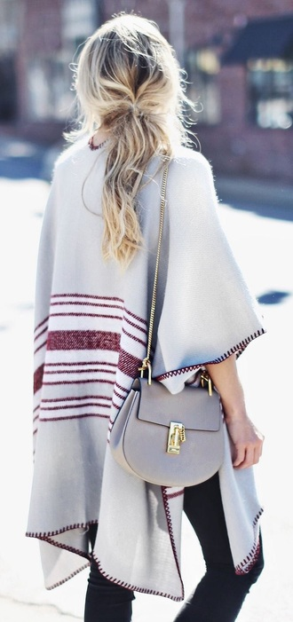 cardigan grey red poncho jacket glitter sweater love need  musthave