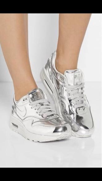 shoes silver air max metallic metallic shoes air max