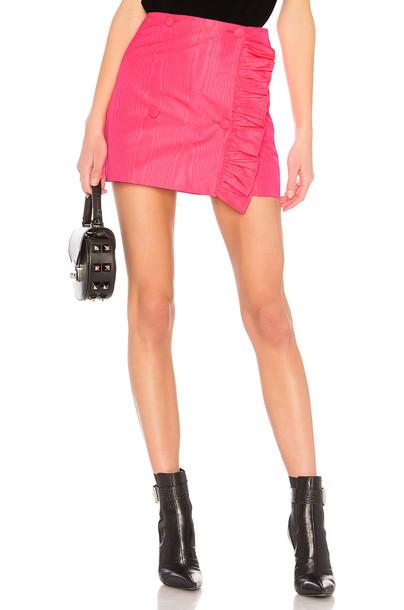 MSGM skirt ruffle pink