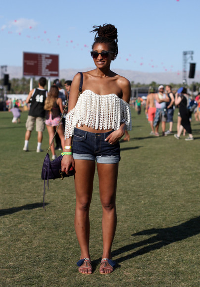 shirt blouse coachella bustier white blouse