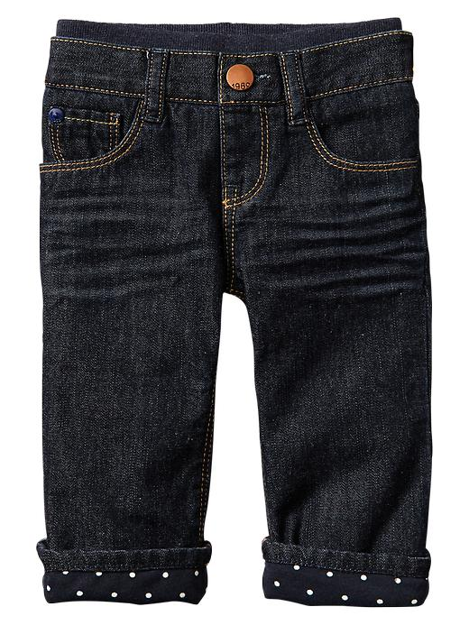 gap first boot jeans (dark wash) - denim