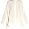 Tie-neck step-hem silk blouse