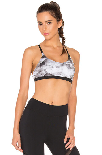 bra sports bra white black