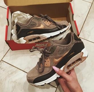 shoes textured shoes 2015 brown black metallic tick air max nike air force tick metallic gold orange nike