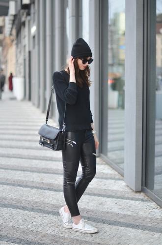 vogue haus blogger sweater leggings shoes bag jewels sunglasses hat