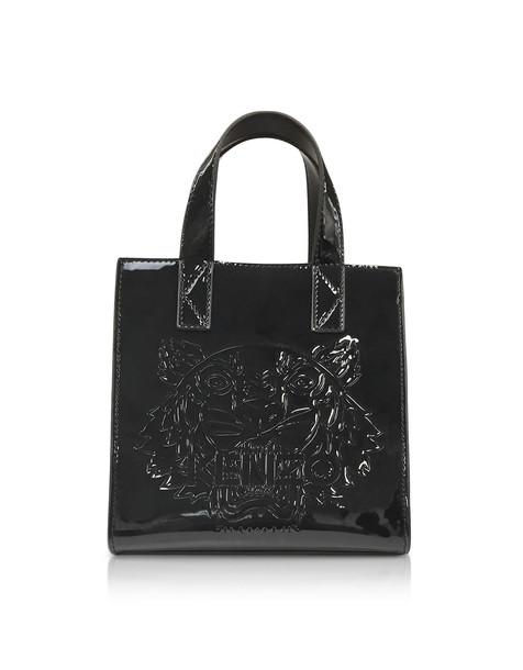 529fd056faf Kenzo Black Patent Mini Tiger Tote Bag - Wheretoget