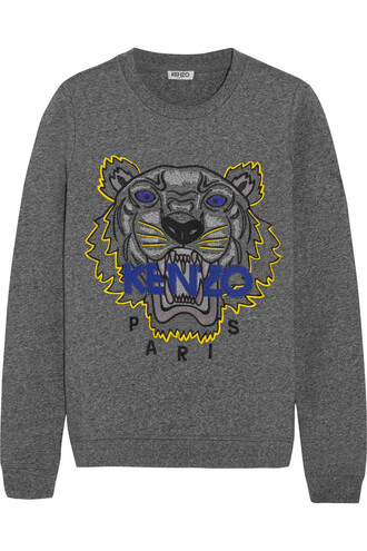 sweatshirt embroidered tiger cotton sweater