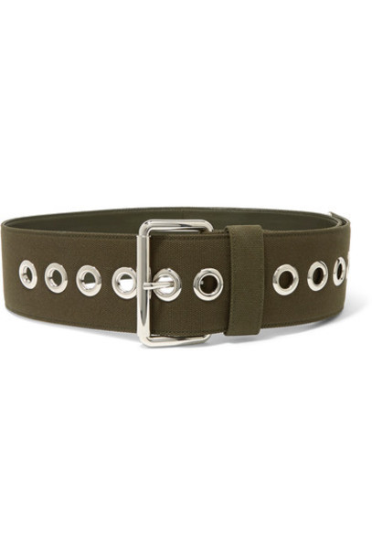 Miu Miu belt waist belt leather green army green