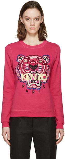 Kenzo pullover embroidered tiger sweater