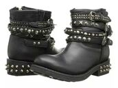 shoes,studs,ankle boots,leather boots,studded shoes,spikes