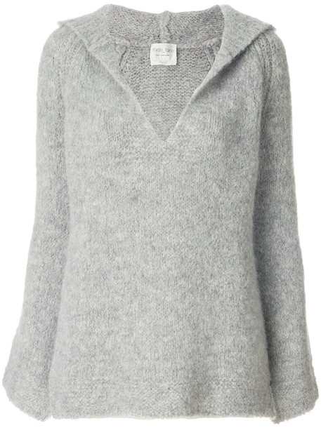 jumper women spandex wool grey sweater