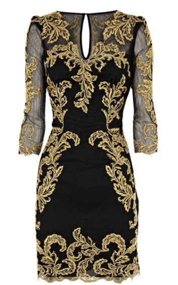 Outletpad   Black bright gold embroidery customs v-neck   Online Store Powered by Storenvy