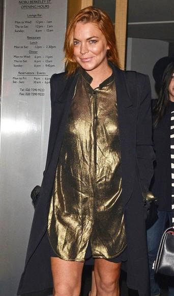lindsay lohan dress shirt dress
