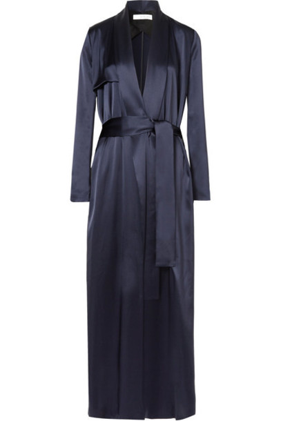 Galvan coat blue satin