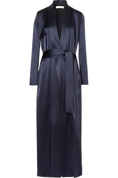 coat blue satin