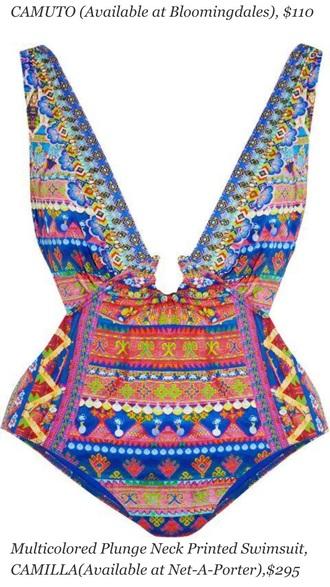 swimwear one piece swimsuit multicolor patterned swimwear