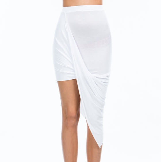 High and Low Draped Asymmetrical Skirt – Shop Compulsive