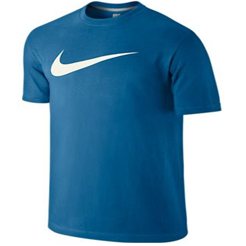 Nike Adult Mens Designer Tee Chest Swoosh Short Sleeved T Shirt Top