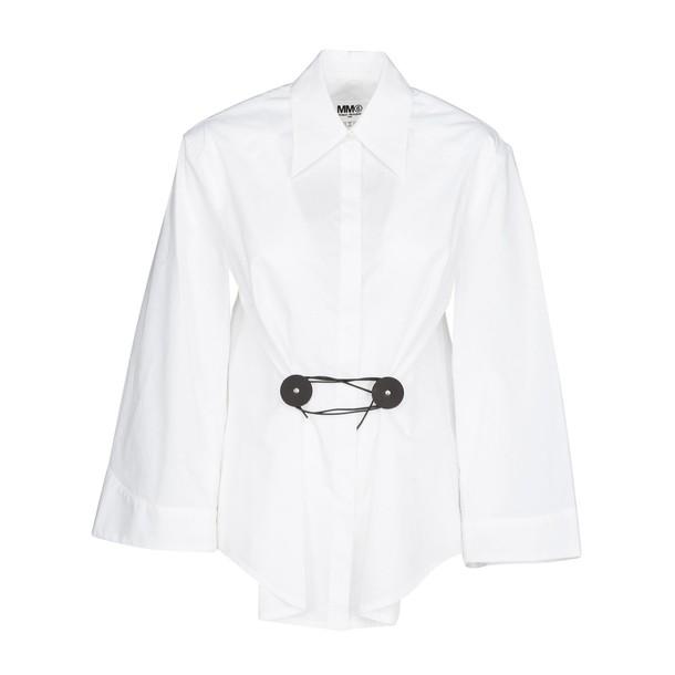 Mm6 Maison Margiela shirt embellished white top