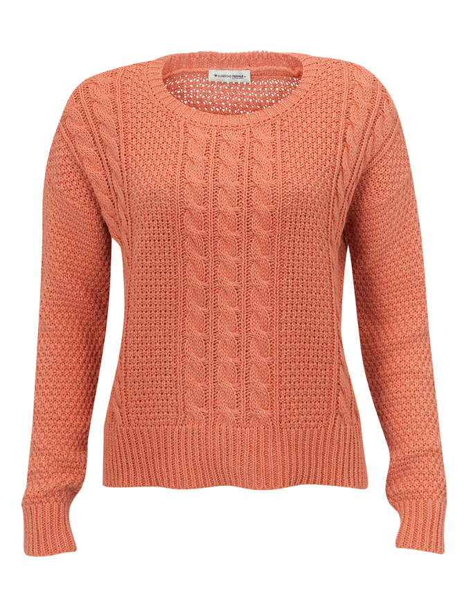 Second Female Sweater Crystal Peach - Welikefashion.com