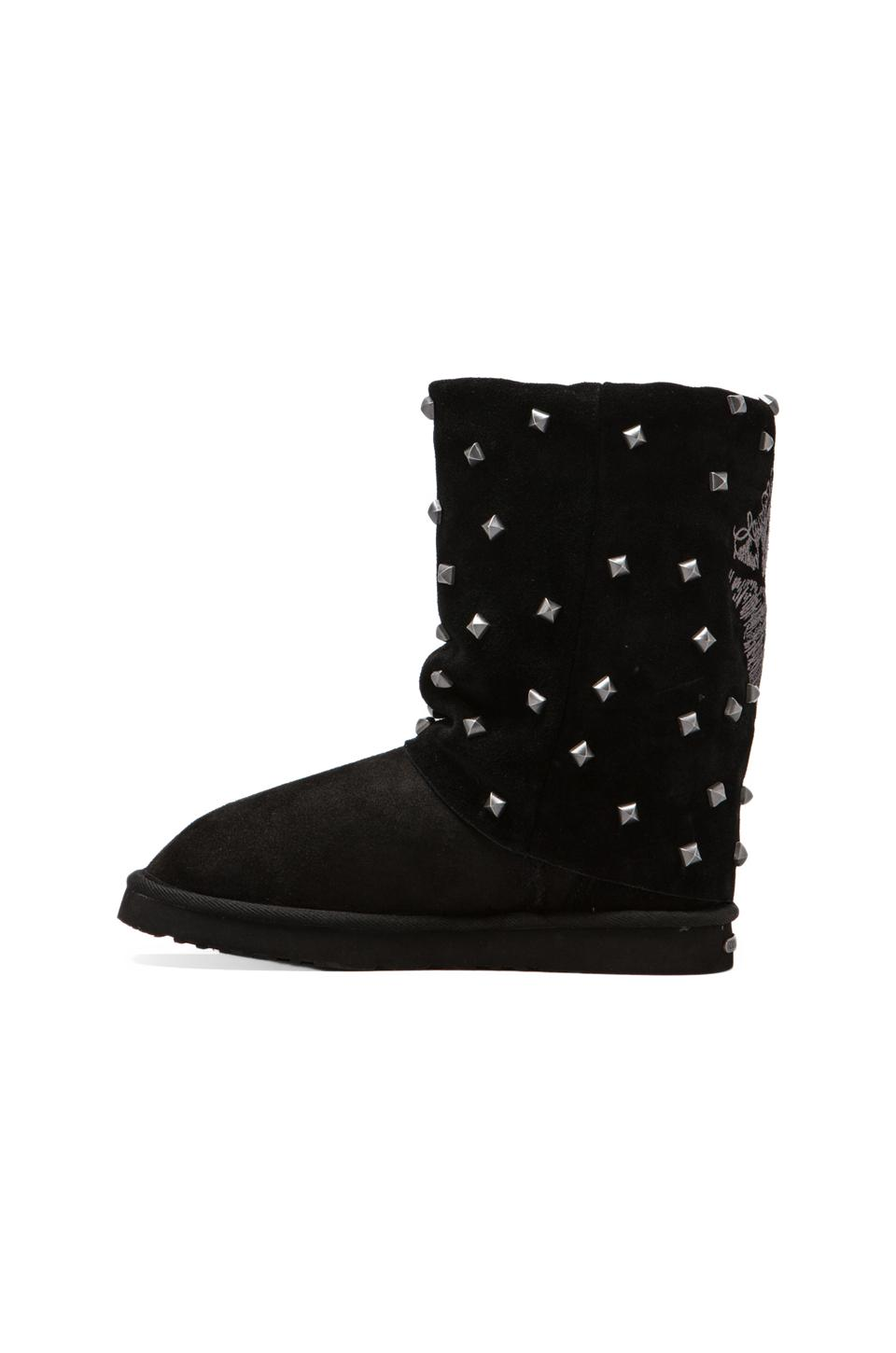 Koolaburra x Lauren Moshi Lips Boot with Twinface Sheepskin in Black | REVOLVE