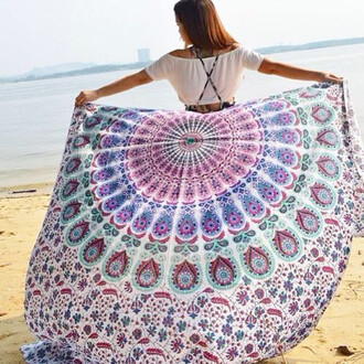 home accessory beach throw mandala tapestry hippie sunny love wall hanging